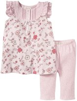 Angel Dear Miracle Garden Flutter Dress Set (Baby) - Pink-6-12 Months