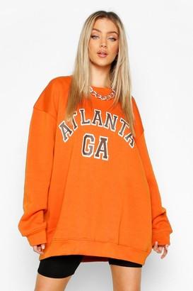 boohoo Oversized Atlanta Sweater