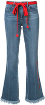 Sonia Rykiel frayed edged bootcut jeans - women - Cotton/Spandex/Elastane - 42