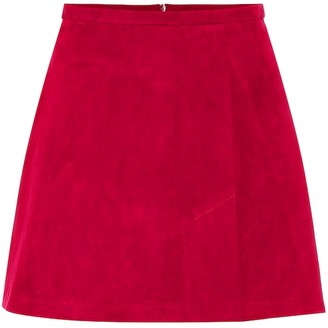STOULS Santa suede miniskirt
