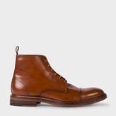 Paul Smith Men's Dip-Dyed Tan Calf Leather 'Jarman' Boots