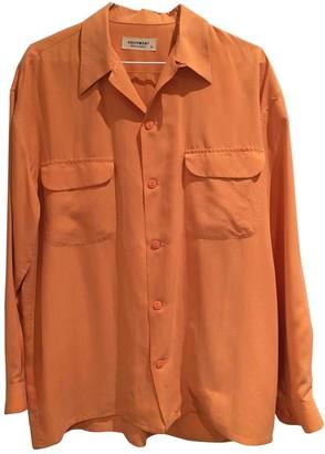 Equipment Orange Silk Tops