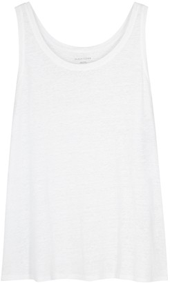 Eileen Fisher White Slubbed Linen Tank