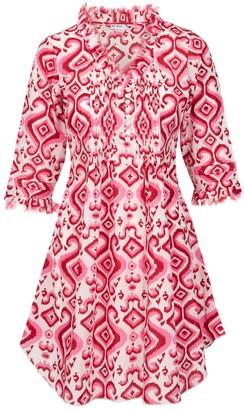 At Last... Cotton Annabel Tunic- Pink Ikat