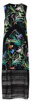 No.21 No. 21 Garden Print Silk Midi Dress