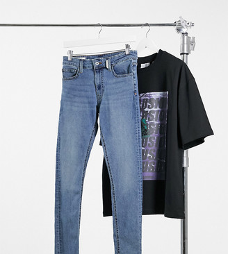 Collusion x001 skinny jeans in mid wash blue