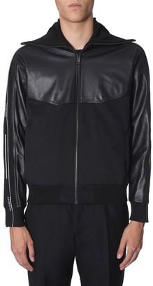 Givenchy Logo Sleeve Band Zippered Jacket