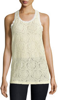 See by Chloe Lace Racerback Tank, Off White