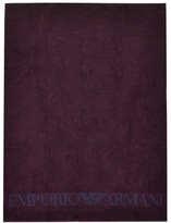 Giorgio Armani Emporio Large Beach Towel Burgundy