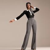 Tommy Hilfiger Zendaya Adaptive Contrast Collar Blouse