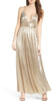 LuLu*s Women's Metallic Maxi Dress