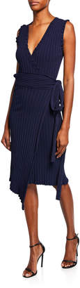 Milly Plus Size V-Neck Sleeveless Wrap Dress