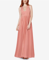 Fame and Partners Pleated U-Neck Maxi Gown