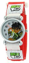 Ben 10 Alien Force Pattern Arabic Numerals Dial Red Nylon Velcro Strap Kids Boys Girls Quartz Watch