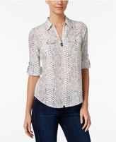 MICHAEL Michael Kors Zip-Front Utility Shirt