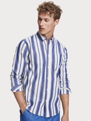 Scotch & Soda Striped sustainable cotton long sleeve shirt   Men