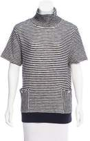 Band Of Outsiders Striped Mock Neck Sweater