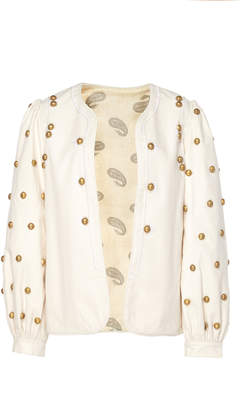 Bohemia Alix Of Alix of Limited Edition Cecile Hand-Embroidered Gold Dome Jack
