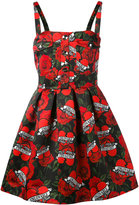 Philipp Plein rose print dress - women - Polyamide/Polyester - M