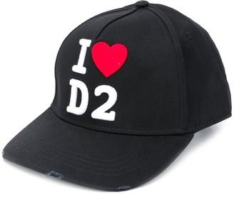 DSQUARED2 Logo Embroidered Adjustable Baseball Cap