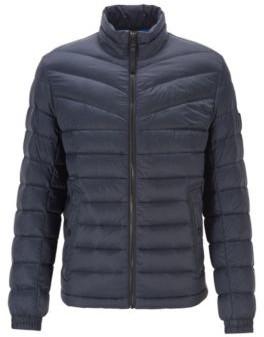 HUGO BOSS - Lightweight Slim Fit Down Jacket With Water Repellent Finish - Dark Blue