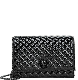 Alexander McQueen Quilted Patent Leather Skull Crossbody
