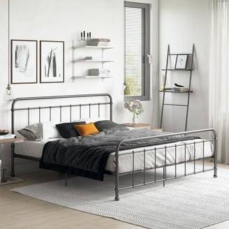 DHP Brooklyn Iron Bed, King, Black