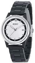 Roxy Women's RX/1012MPBK THE ABBEY Date Function Dial Black Resin Bracelet Watch