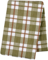 Trend Lab 48'' x 48'' Green & Brown Plaid Flannel Swaddle Blanket