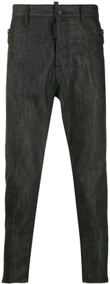 DSQUARED2 Zipped Pockets Tapered Jeans