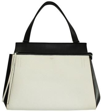 Celine Black/White Leather Trapeze Bag