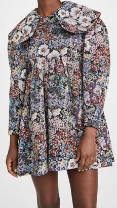 SHUSHU/TONG Big Shoulder Short Dress