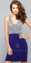 Faviana Beaded Bust Homecoming Dress
