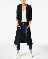 Planet Gold Juniors' Open-Front Duster Cardigan