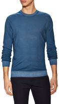 Z Zegna Wool Ribbed Crewneck Sweater