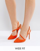 Asos PARTON Wide Fit Asymmetric Pointed Heels
