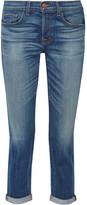 J Brand 9022 Georgina Mid-rise Slim Boyfriend Jeans - Mid denim