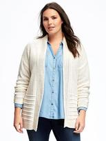 Old Navy Relaxed Mixed-Texture Plus-Size Cardi
