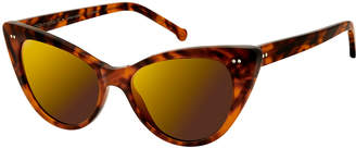 Colors In Optics Audrey Marbled Cat-Eye Sunglasses, Blond