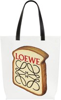 Loewe Toast Printed Cotton Canvas Tote Bag
