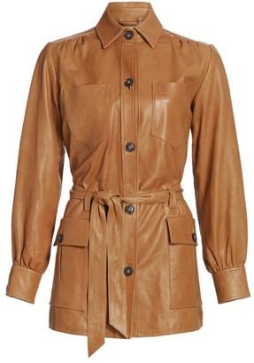 Frame Safari Belted Leather Jacket