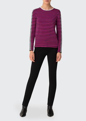 Akris Punto Striped Knit Wool-Blend Pullover