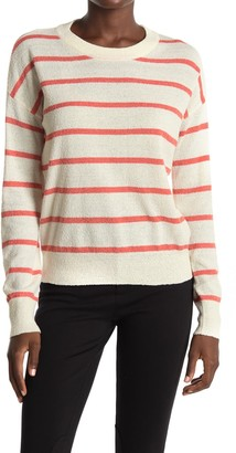 Thread and Supply Long Sleeve Stripe Print Pullover Sweater