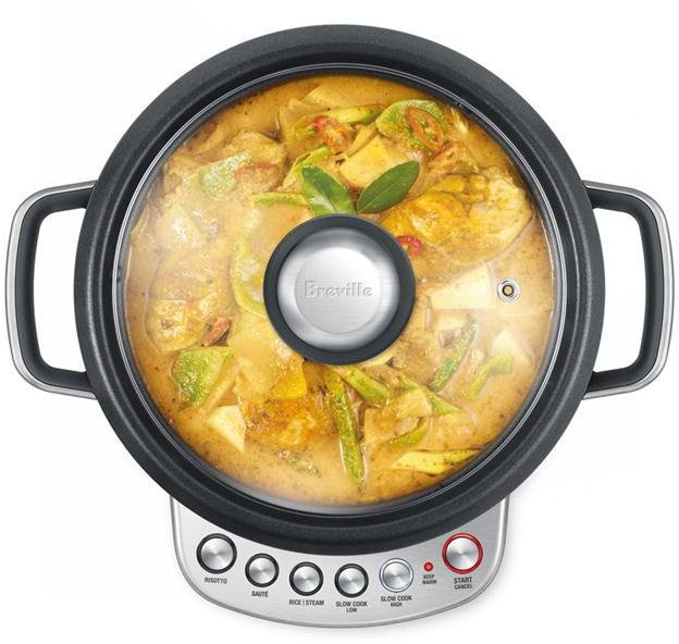 Breville 4-qt. Brushed Stainless Steel Risotto Plus Multi Cooker