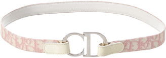 Christian Dior Pink Coated Canvas Belt