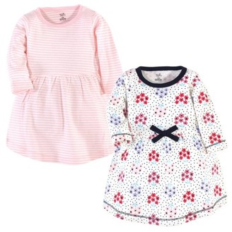 Touched by Nature Baby Girl Long-Sleeve Organic Dresses, 2-Pack