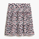 J. Crew Factory Floral pleated mini skir