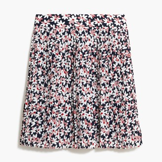 J.Crew Floral pleated mini skirt