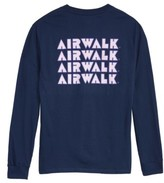 Hanes Men's Airwalk Logo Long Sleeve T-Shirt