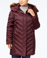 Kenneth Cole Plus Size Faux-Fur-Trim Quilted Down Coat